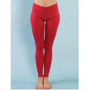 Teeki Red Yoga Leggings XS